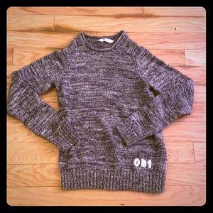 H&M solid gray scoop neck sweater